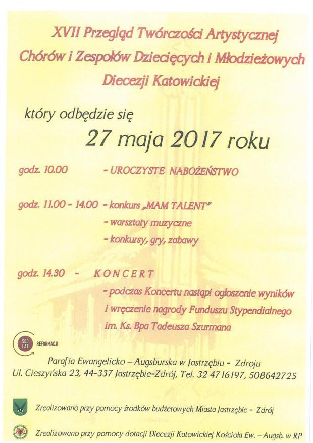 XVII Przegląd Twórczości Artystycznej Chórów i Zespołów Dziecięcych i Młodzieżowych Diecezji Katowickiej