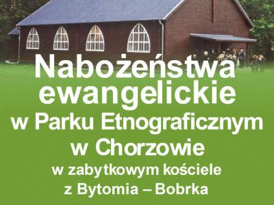 zaproszenie na nabożeństwo w Parku Etnograficznym